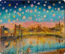 Kate Van Suddese Greeting Card - A Starry Night On The Quayside - Newcastle